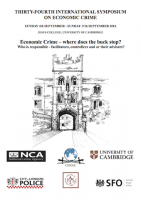 Geolab's director at the 34th Cambridge International Symposium on Economic Crime