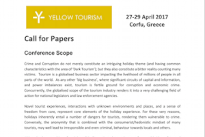 Yellow Tourism Conference 2017 - Call for Papers