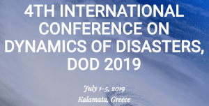 Geolab's director Prof. Stavros Katsios member of the Program Committee of the 4TH INTERNATIONAL CONFERENCE ON DYNAMICS OF DISASTERS, DOD 2019