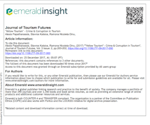 Journal of Tourism Futures